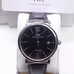 IWC 万国柏涛菲诺系列IW356502 精钢黑盘皮带