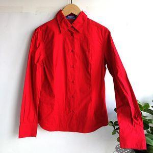 Burberry 博柏利YF04027正红工装长袖衬衫38码