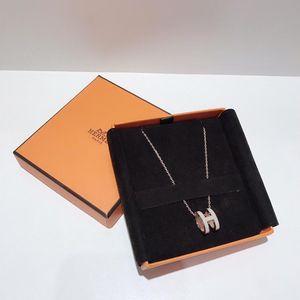 Hermès 爱马仕白银 poph珐琅项链