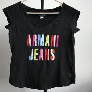 ARMANI 阿玛尼黑色短袖