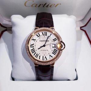 Cartier 卡地亚蓝气球系列18K金后镶钻自动机械腕表