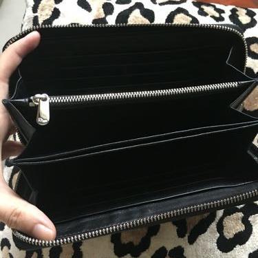 Dior迪奥羊皮黑色长款钱包