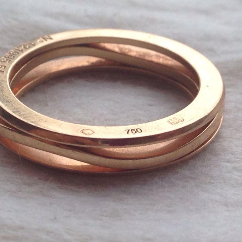 OMEGA欧米茄玫瑰金戒指