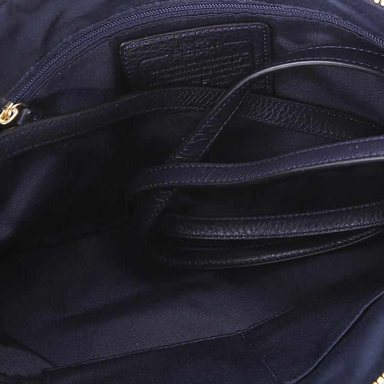 Coach蔻驰藏蓝色手提包