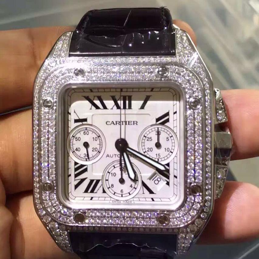 Cartier卡地亚桑托斯大号计时自动机械腕表
