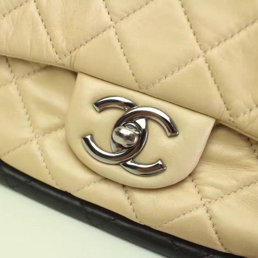 CHANEL香奈儿裸色手提包