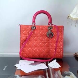 Dior迪奥3拼色手提包