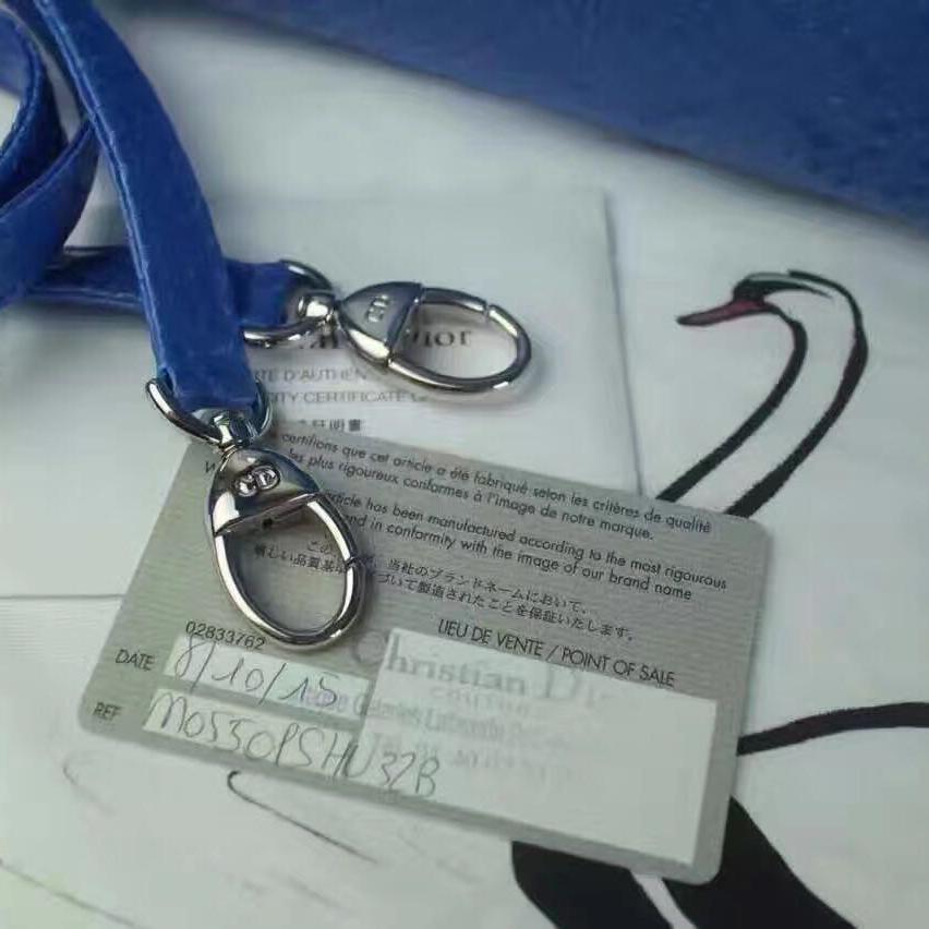 Dior迪奥宝蓝色手提包