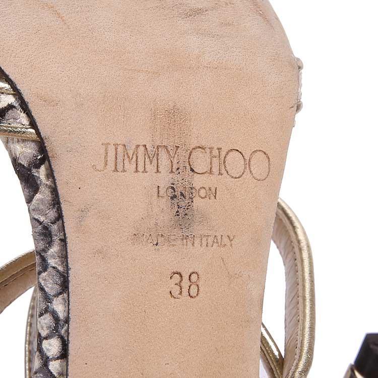 Jimmy Choo周仰杰金色高跟鞋