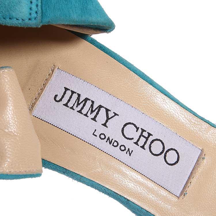 Jimmy Choo周仰杰蓝色高跟鞋
