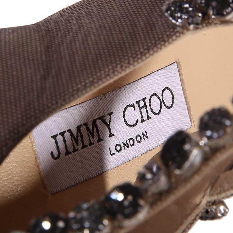 Jimmy Choo周仰杰褐色高跟鞋