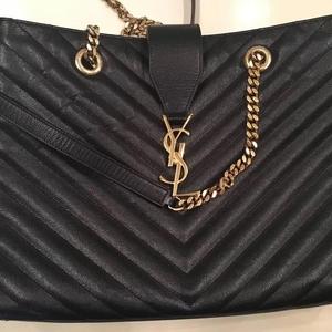 YSL圣罗兰黑色链条包