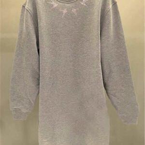 McQueen麦昆经典灰色长款燕子卫衣