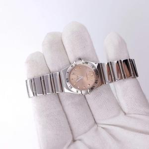 OMEGA欧米茄星座系列粉色石英腕表