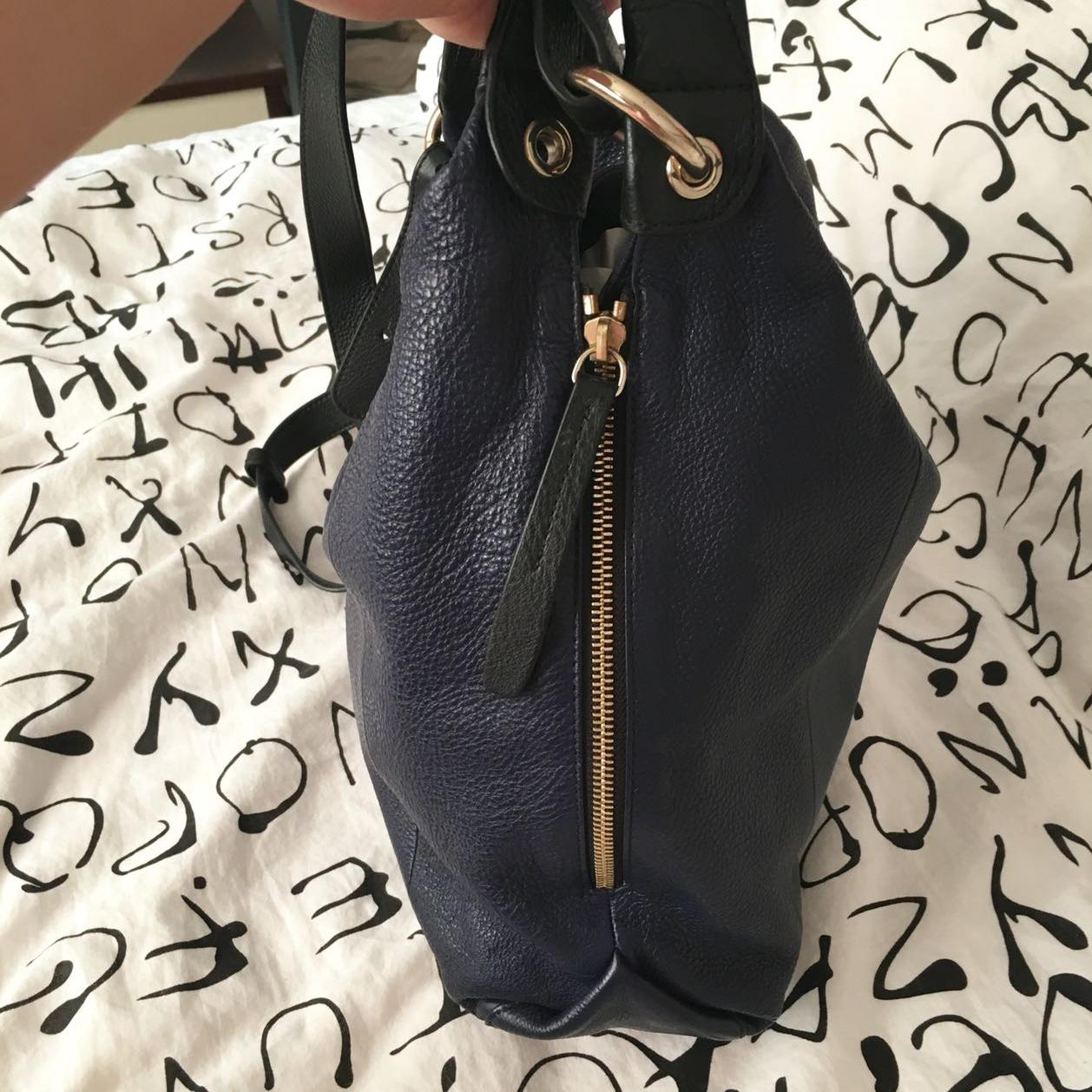 Furla芙拉深蓝色手提包