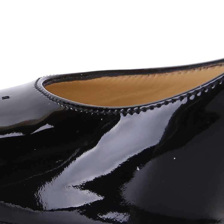 Jimmy Choo周仰杰黑色漆皮高跟鞋