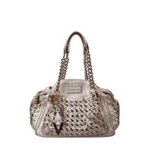 Versace范思哲金色手提包