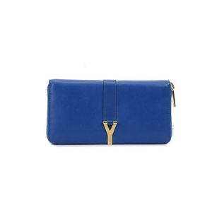 Yves Saint Laurent 伊夫·圣罗兰宝蓝色钱包