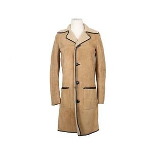 Yves Saint Laurent 伊夫·圣罗兰驼色皮衣
