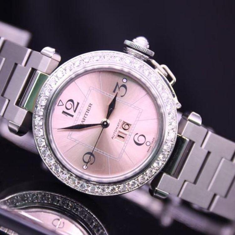 cartier女士手表_Cartier 卡地亚帕莎系列自动机械女士手表二手价格_专柜正品_图片 ...