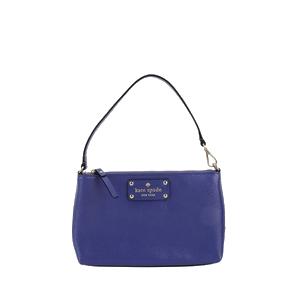 Kate Spade 凯特·丝蓓紫色全皮手包