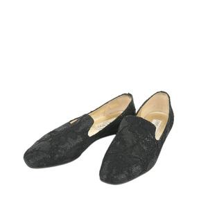 Jimmy Choo 周仰杰黑色平跟鞋
