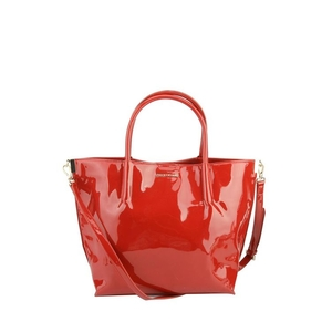 Armani Exchange 阿玛尼红色漆皮手提包