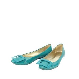 Roger Vivier 罗杰·维维亚绿色平跟鞋