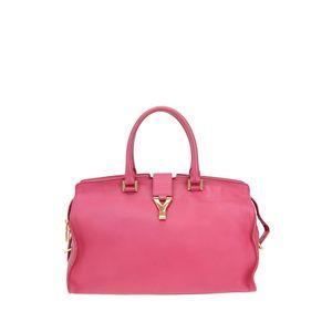 Yves Saint Laurent 伊夫·圣罗兰玫红色手提包