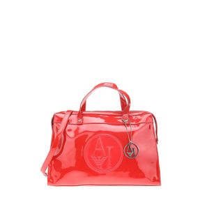 Armani Jeans 阿玛尼漆皮红色手提包