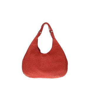 Bottega Veneta 葆蝶家红色编织手提包