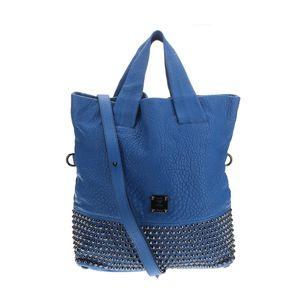 MCM 蓝色铆钉手提包