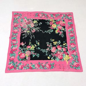Chloé 蔻依花卉图案真丝丝巾