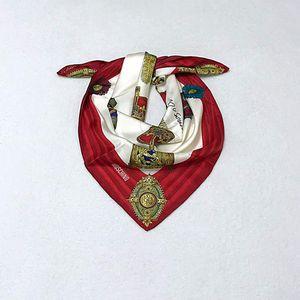 Moschino 莫斯奇诺复古骑士装备真丝大方巾
