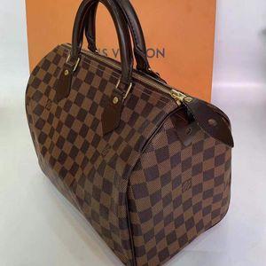 Louis Vuitton 路易·威登经典百搭棕棋盘格手提包