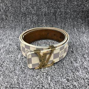 Louis Vuitton 路易·威登白棋盘男士腰带