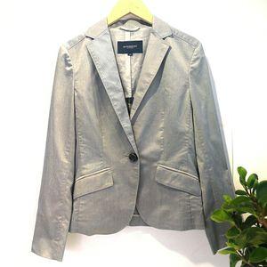 Burberry 博柏利YF04047经典灰色单扣百搭西装外套上衣