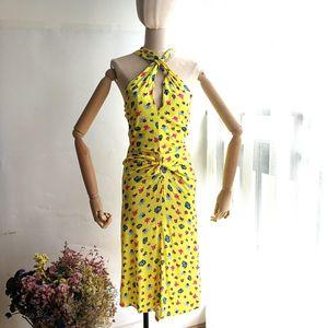 Versace 范思哲意大利风情印花弹力露背连衣裙