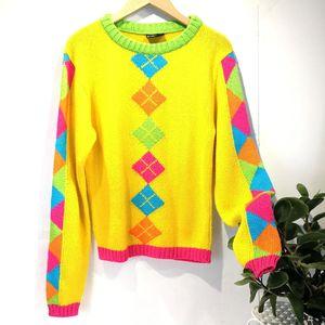 Versace 范思哲YF04061锡兰黄活力几何编织针织衫毛衣上衣