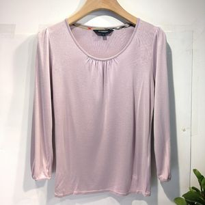 Burberry 博柏利YF04043雾紫色亲肤柔100%高档真丝长袖针