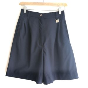 GIVENCHY 纪梵希YF04076墨蓝暗纹高尔夫运动休闲裙裤