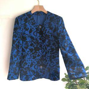 Versace 范思哲YF04066深蓝神秘之花上衣外套大衣