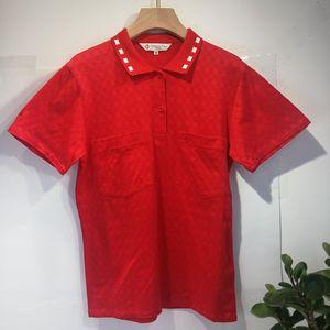 Dior 迪奥YF04048青春红小格纹领短袖T恤Polo衫