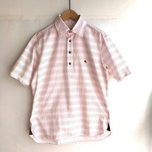 Burberry 博柏利YF04074粉色经典条纹短袖衬衫