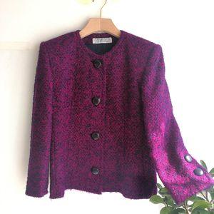 GIVENCHY 纪梵希YF04067高贵紫95%高端羊毛毛呢大衣上衣