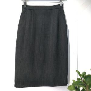 Dior 迪奥YF04060经典必备黑色细条纹显瘦半身裙铅笔裙