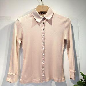 Burberry 博柏利YF04037真丝棉优雅针织长袖衬衫