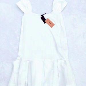 Miu Miu 缪缪白色背心短裙