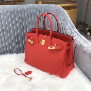 Hermès 爱马仕birkin35红金togo手提包