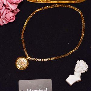 Versace 范思哲美杜莎太阳神圆形矩阵项链